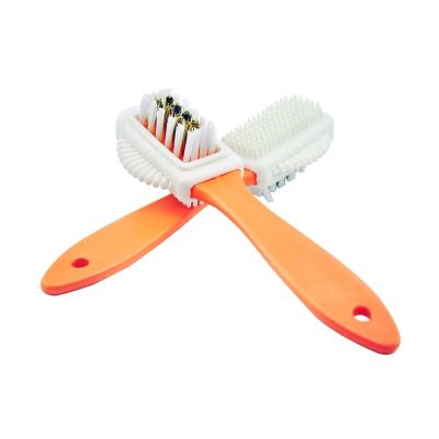 【TARRAGO塔洛革】麂皮多功能刷-尼龍刷毛銅刷毛乳白橡膠三合一多功能有效去除殘膠、除塵