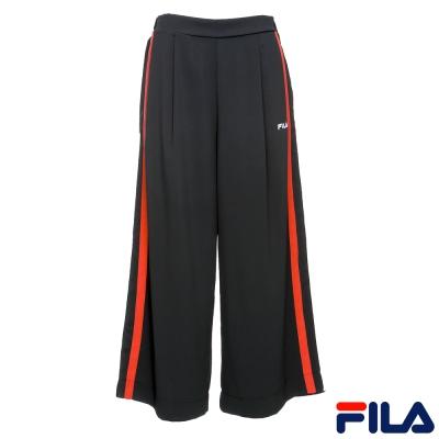 FILA 女款平織長褲-黑5PNR-1404-BK