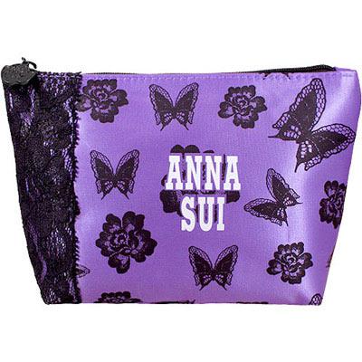 ANNA-SUI-安娜蘇-薔薇紫蝶化妝包