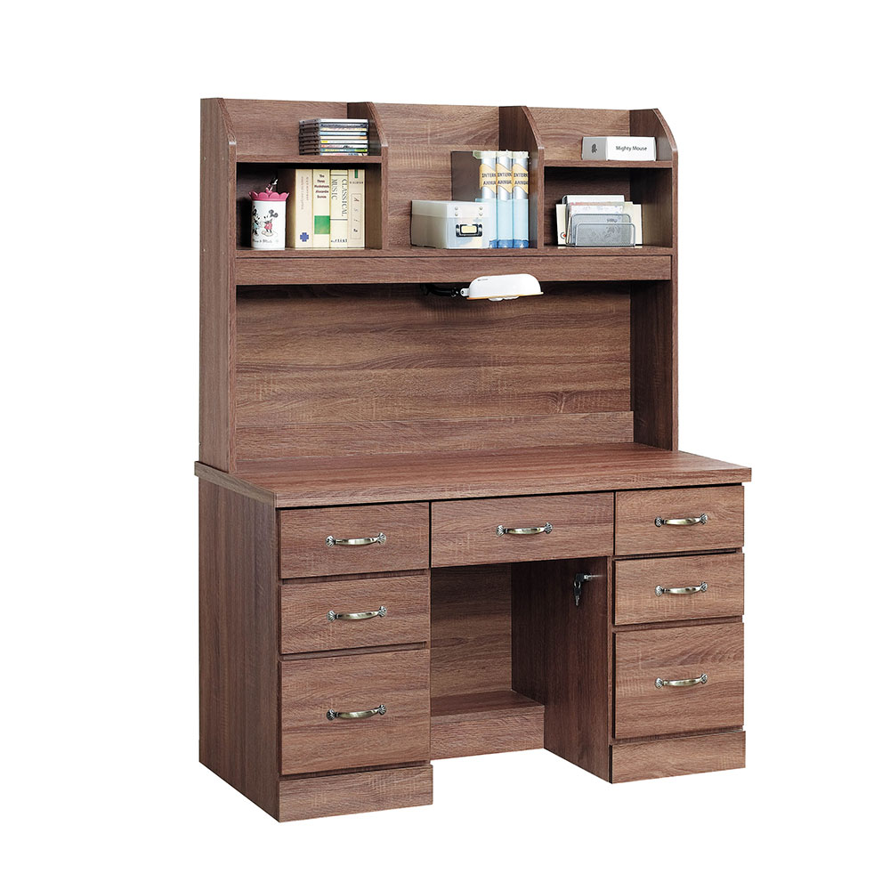 H&D 柚木色4尺書桌組 (寬121X深58X高166cm)