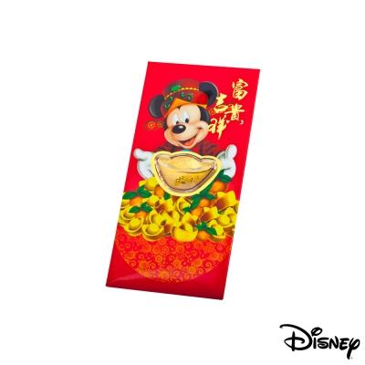 Disney系列金飾-黃金元寶紅包袋-富貴米奇款