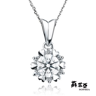 蘇菲亞SOPHIA 鑽石項鍊 - 費洛拉0.30克拉FVVS1 3EX 鑽石項鍊
