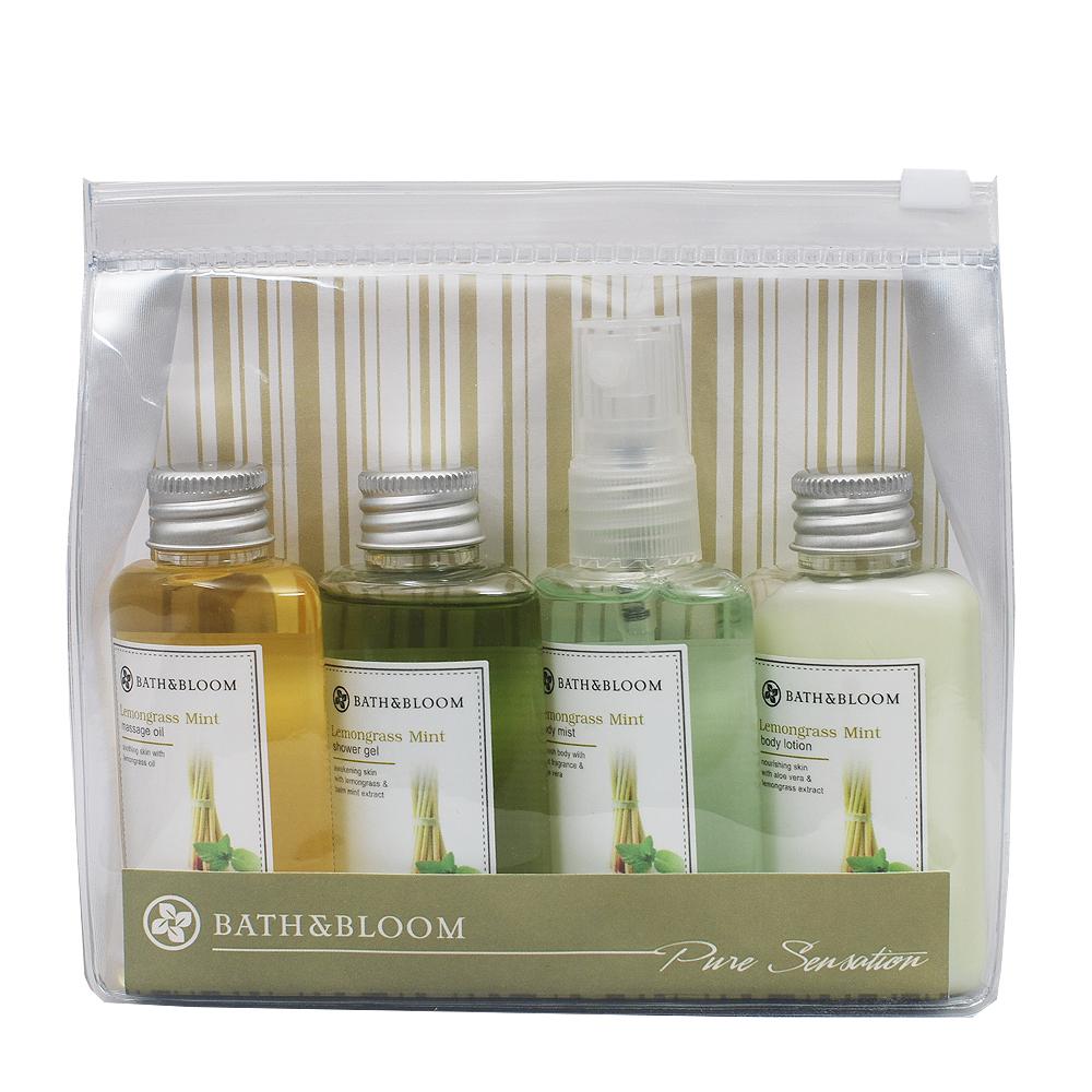 Bath & Bloom 檸檬草薄荷旅行提袋組-原價750