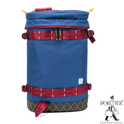 PORTER - 活力無限GEAR UP圓筒造型後背包 - 藍配紅