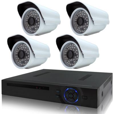 奇巧 4路HD1080P數位超值監控組(含720P130萬48燈攝影機x4)