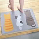 iSFun 萌貓背影 療癒動物絨毛腳踏地墊40x60cm