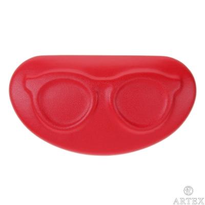 ARTEX life 皮革收納小盒 眼鏡造型 紅