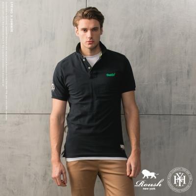 ROUSH Roush Ltd立體膠印水洗素面Polo衫 (4色)
