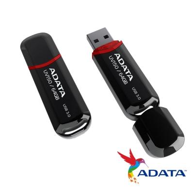 威剛 UV150/64G USB3.0行動碟(黑色)