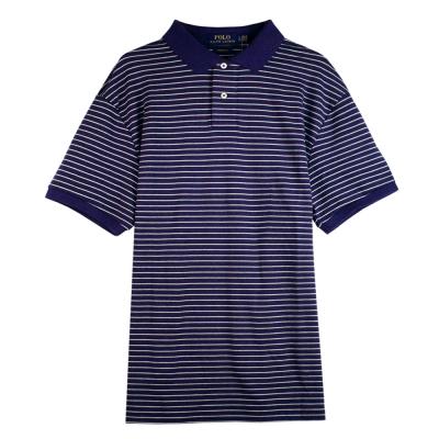 Ralph Lauren 棉質純條紋POLO衫(紫)