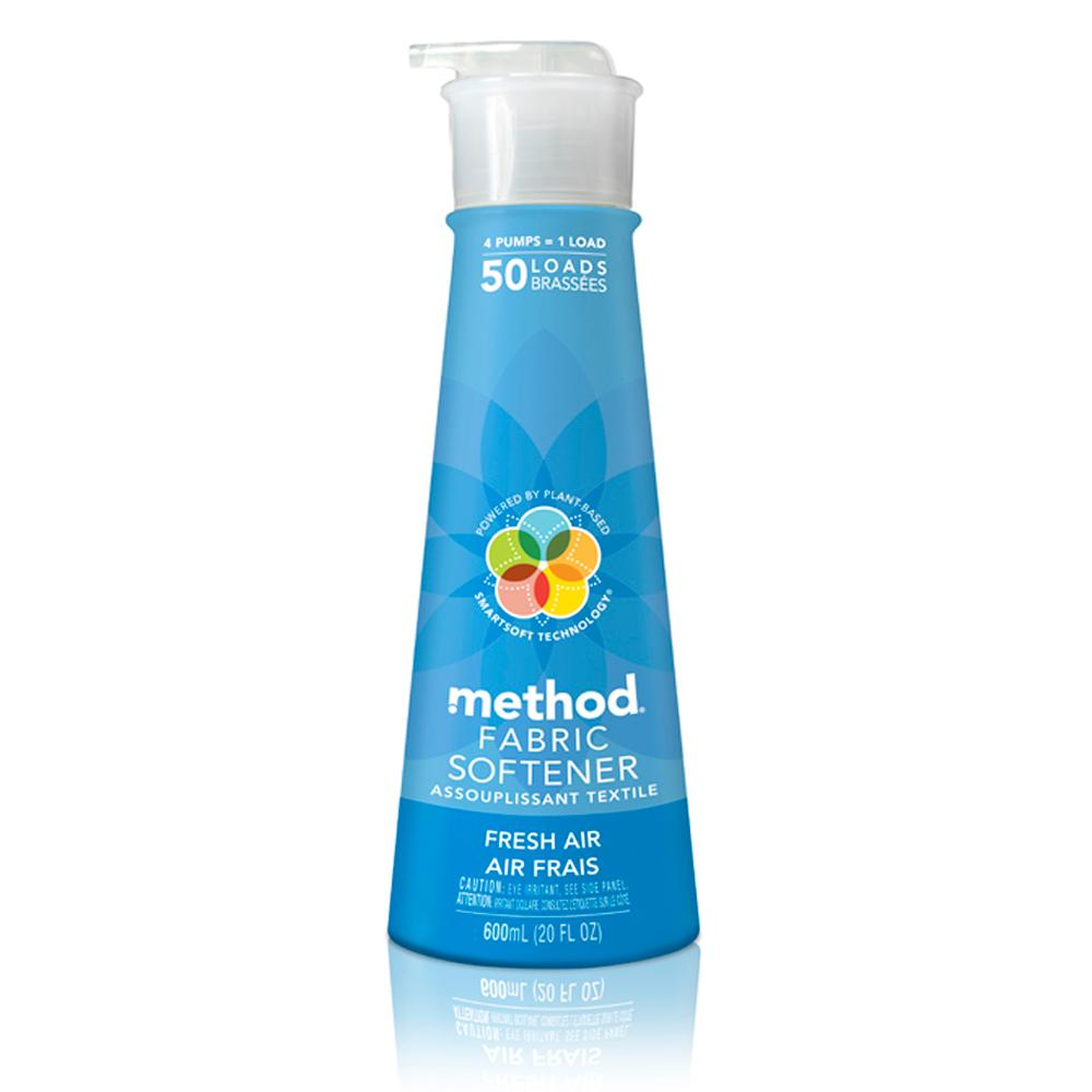 Method 美則 八倍濃縮智慧環保衣物柔軟精-清新600ml