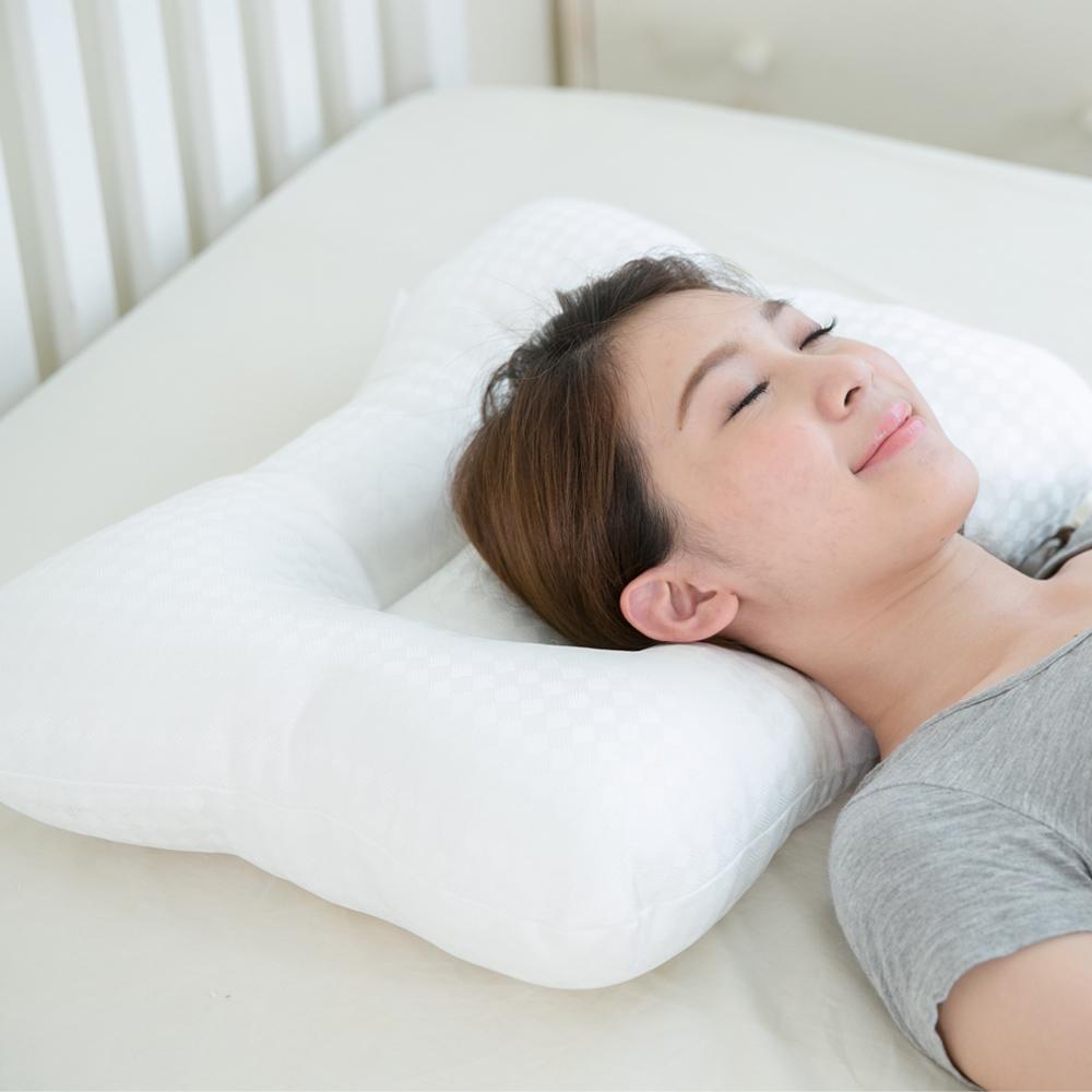 凱蕾絲帝-台灣製造~平凹造形可水洗物理健康止鼾枕-一入