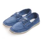 (女)Natural World 西班牙休閒鞋 素面3孔綁帶款*水藍色