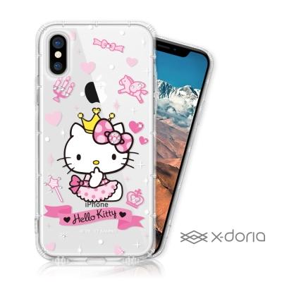 Hello Kitty iPhone X 彩繪空壓手機鑽殼 - 仙女