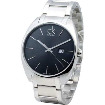 cK Exchange 現代簡約大錶徑時尚腕錶-黑灰/44mm