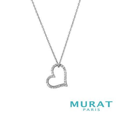 MURAT Paris米哈巴黎 浪漫心形滿鑽項鍊