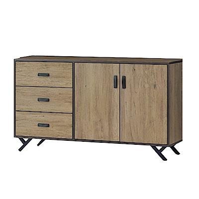 品家居 特斯拉5尺橡木紋餐櫃下座-150x40x83cm免組