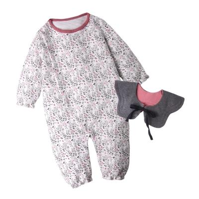 baby童衣 寶寶包屁衣 長袖印花 花苞領圍設計50805