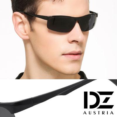 【2件59折】DZ 飛行輪廓 抗UV 偏光太陽眼鏡墨鏡(黑框灰片)
