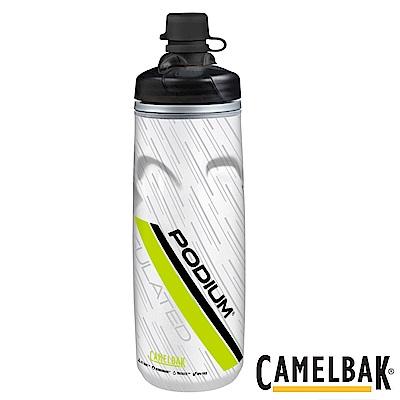 《CAMELBAK》保冷防塵噴射水瓶 620ml 萊姆白(CB1521301062)
