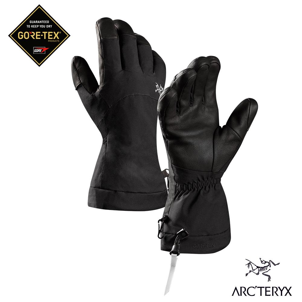 Arcteryx 始祖鳥 Fission GoreTex 防水保暖滑雪手套 黑