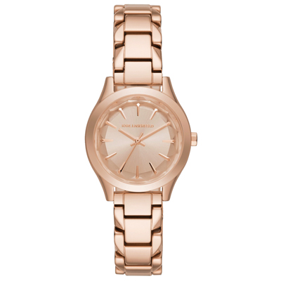 KARL LAGERFELD 名模風範三針腕錶-玫瑰金/31mm
