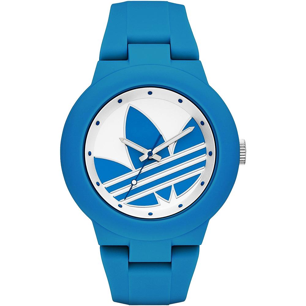 adidas Aberdeen奧運系列三葉草時尚腕錶-藍42mm