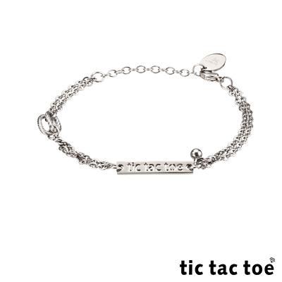 tic tac toe 品牌專屬白鋼女手鍊