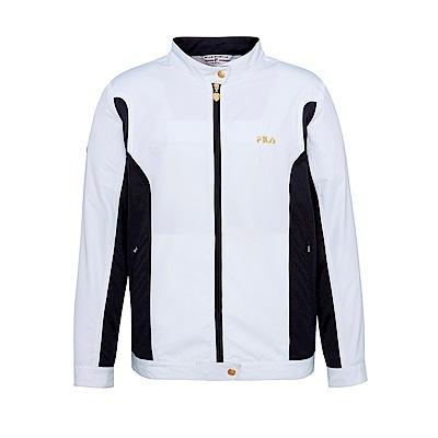 FILA 男抗UV風衣外套-白 1JKS-1450-WT