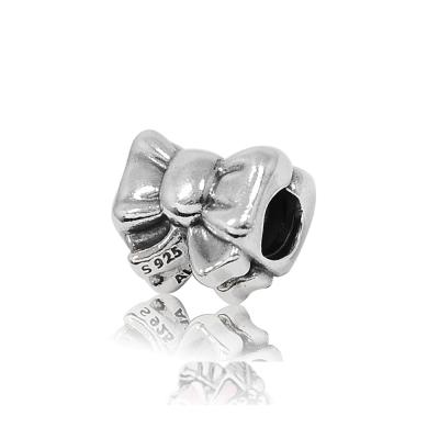 Pandora 潘朵拉 蝴蝶結造型 純銀墜飾 串珠