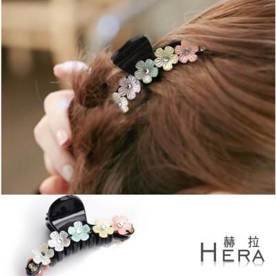 Hera  立體彩色花朵綴水鑽香抓夾