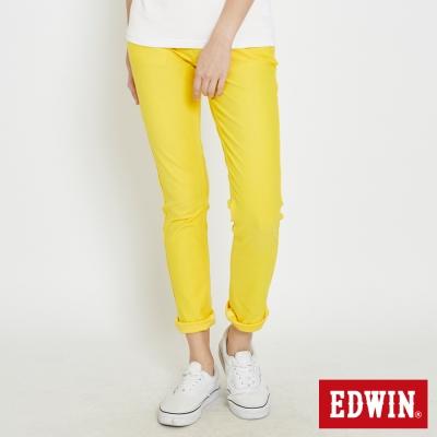 EDWIN AB褲 迦績褲JERSEYS涼感色褲-女-黃色