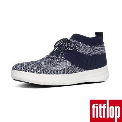 FitFlop TM-UBERKNIT TM SLIP-ON HIGH午夜藍/白