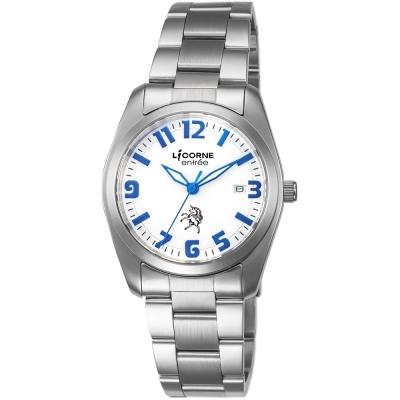 LICORNE 恩萃 Entree LT083BWWA-N 都市腕錶-白x藍/36mm