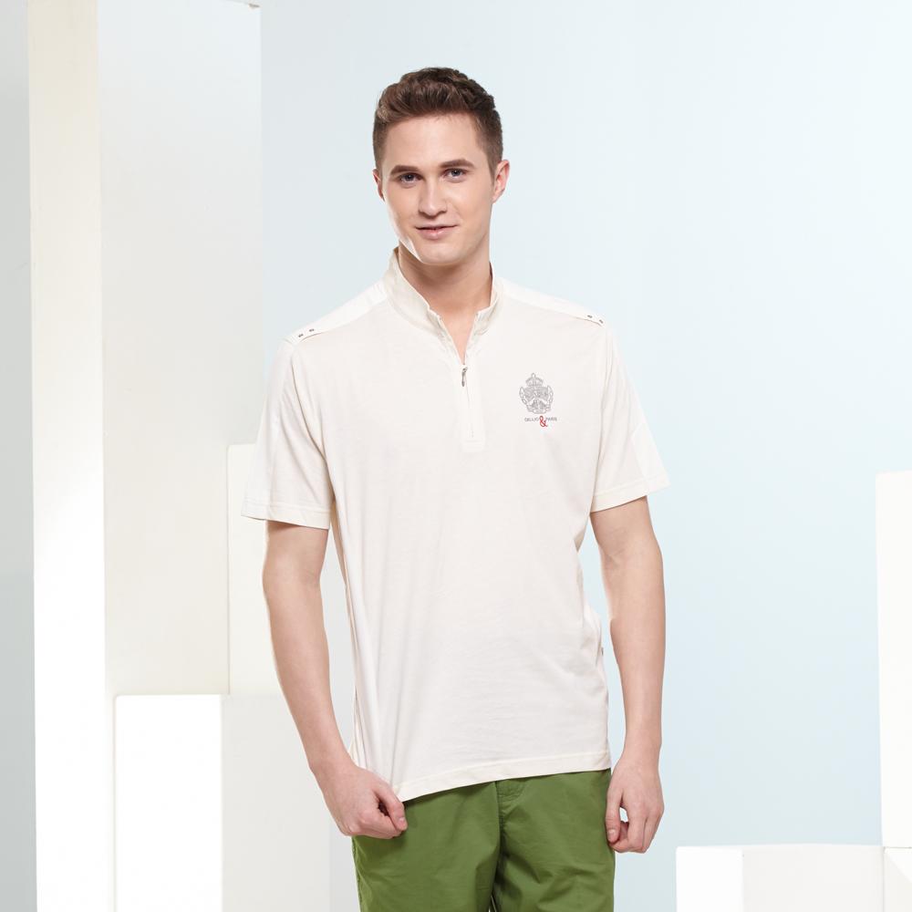 歐洲貴族oillio  短袖立領T恤 展現時尚短袖立領衫2色3size