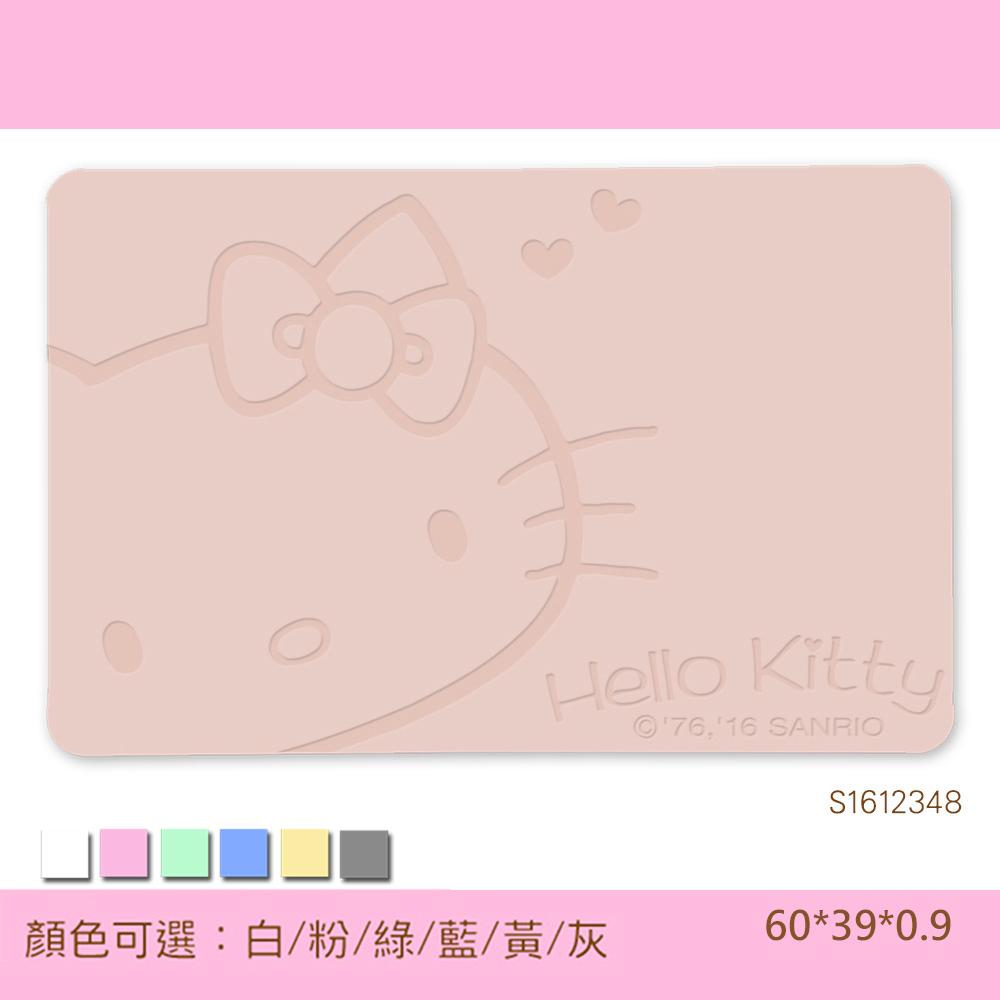 三麗鷗獨家授權 - Hello Kitty珪藻土吸水地墊 (雕刻-復刻甜心)