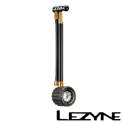 LEZYNE-SHOCK DRIVE 避震器專用 鋁合金高壓前叉手握打氣筒(黑)