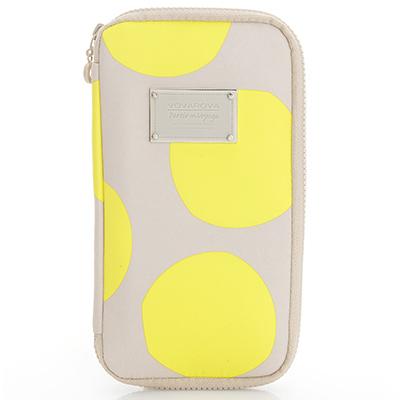 VOVAROVA空氣包-環遊世界護照夾-波卡圓點(黃)