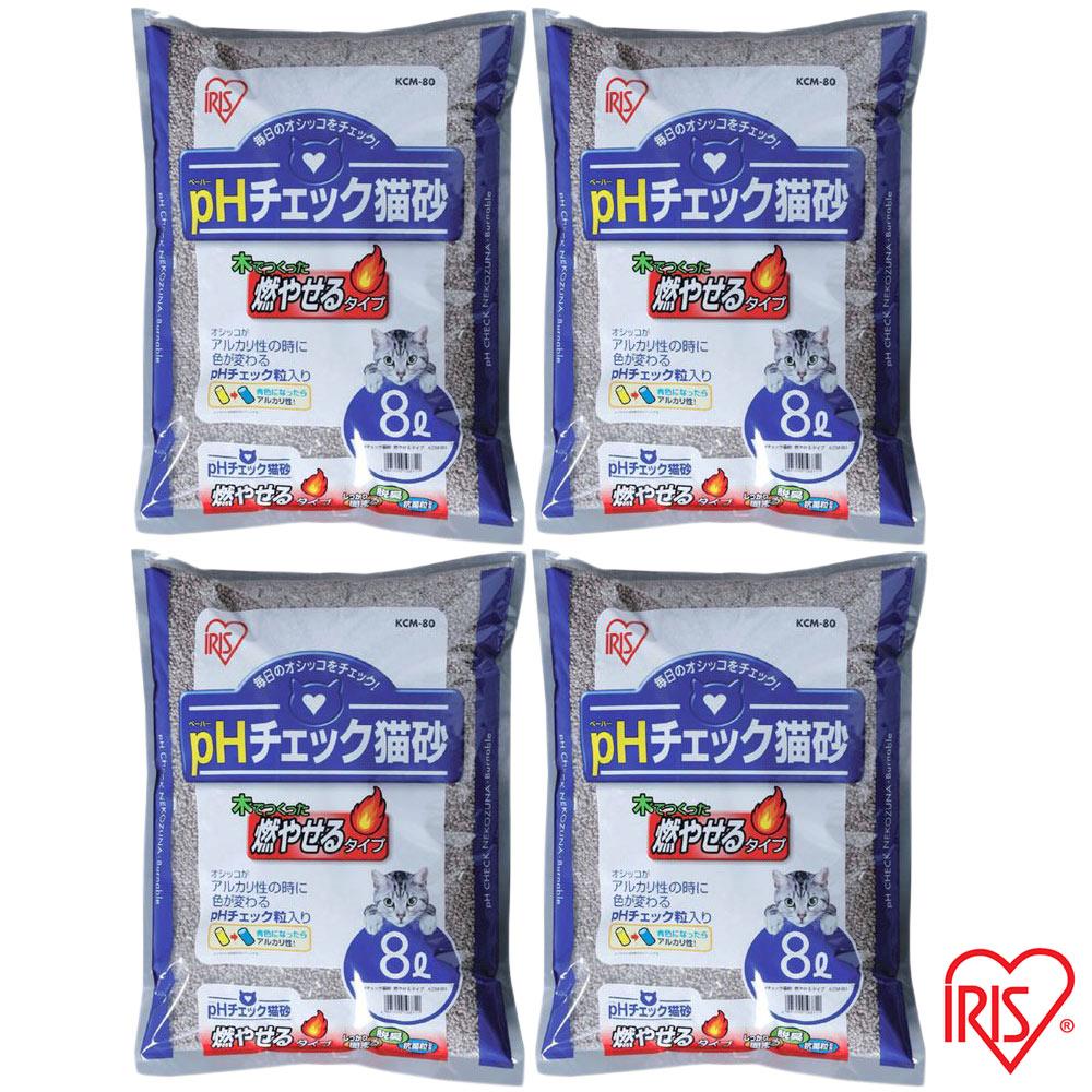 日本IRIS 健康檢查 尿道結石專用貓砂 8L (KCM-80) x 4包
