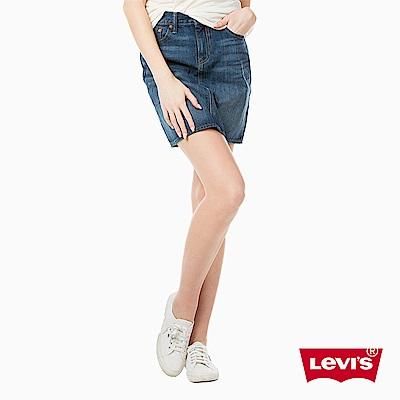 牛仔裙 深色水洗 - Levis
