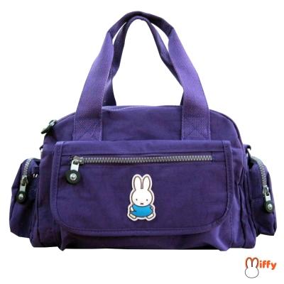 【Miffy 米飛】兩用皺皺提袋(葡萄紫)