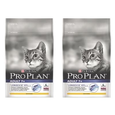 Pro Plan冠能 熟齡貓7+鮮雞照護配方 1.3kg X2包