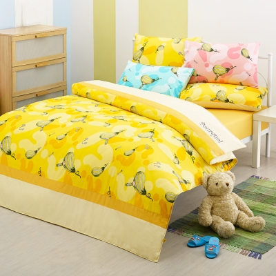 繪見幾米-布瓜的世界 布瓜樂園 黃色 單人兩用被床包組