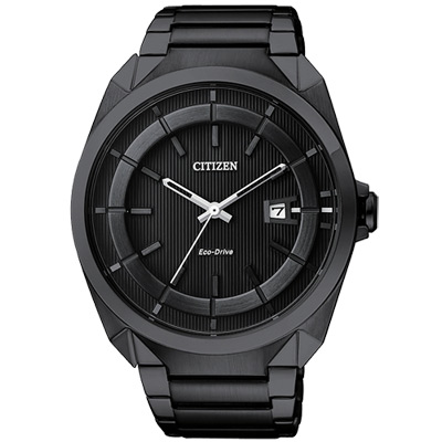 CITIZEN Eco-Drive 時尚紳士風腕錶(AW1015-53E)-IP黑/42mm