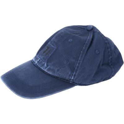 TRUSSARDI 單寧刷色鴨舌帽(藍色)