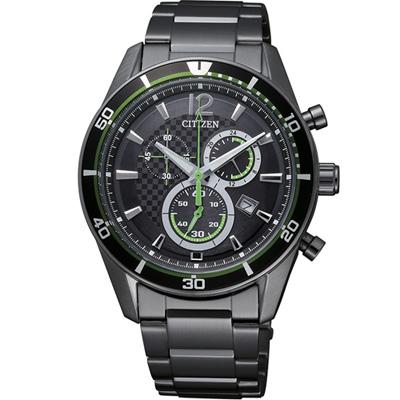 CITIZEN 競速快感光動能都會紳士腕錶(AT2115-52E)-黑/40mm