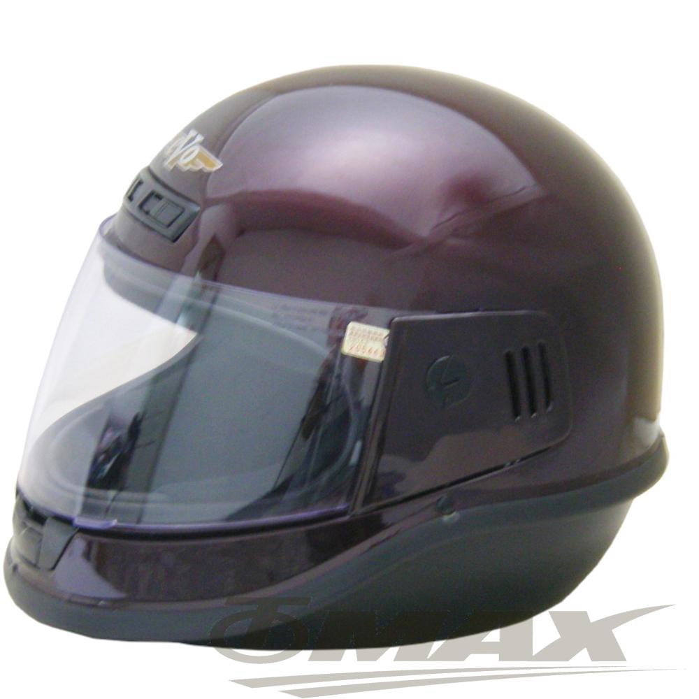 EVO全罩式安全帽-酒紅色+(6入不織布內襯套)