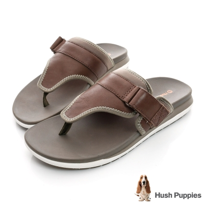Hush Puppies AIREY  超輕量減壓運動拖鞋-褐色