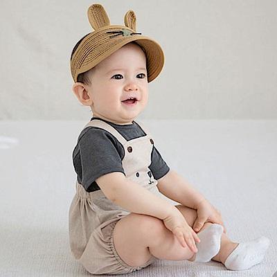 韓國 Happy Prince 星鼻兔耳編織鴨舌遮陽帽
