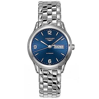 LONGINES浪琴Flagship 系列經典機械錶-藍/38.5mm